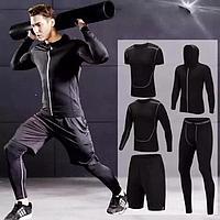 Рашгард Adidas  для тренировок черный 5 в 1 XS, фото 1
