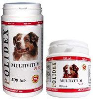 POLIDEX Multivitum plus, 150 таб.  Полидекс мультивитамины для собак 