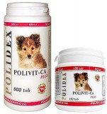 POLIDEX Polivit-Ca plus, Полидекс, мультивитамины для щенков, уп 150 табл.
