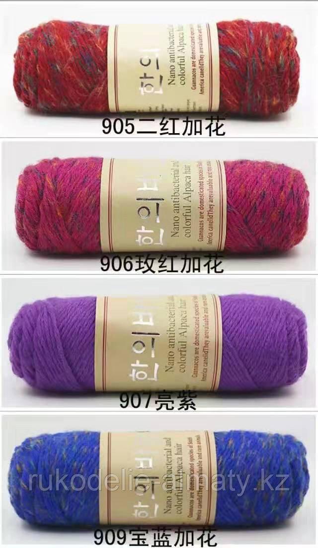 """Пряжа для ручного вязания """"NANO """", 100 гр, цвет-светло-серый - фото 7"""