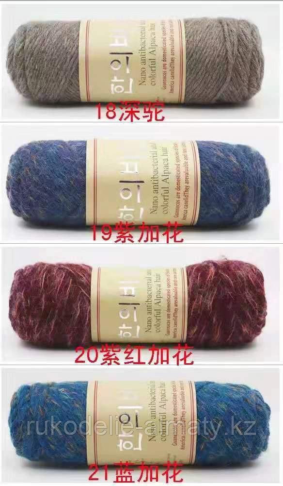 """Пряжа для ручного вязания """"NANO """", 100 гр, цвет-светло-серый - фото 9"""