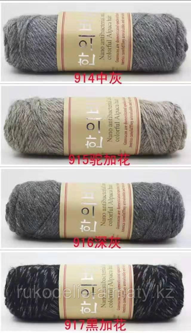"""Пряжа для ручного вязания """"NANO """", 100 гр, цвет-светло-серый - фото 10"""