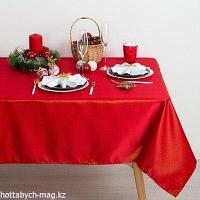 Скатерть Доляна «Пудра» цвет красный, 150*280 см, 115 ± 10 г/м2, 100% п/э