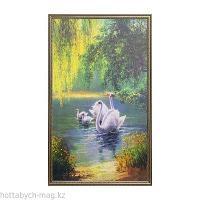 """Картина """"Лебединая семья"""" 104*64 см"""