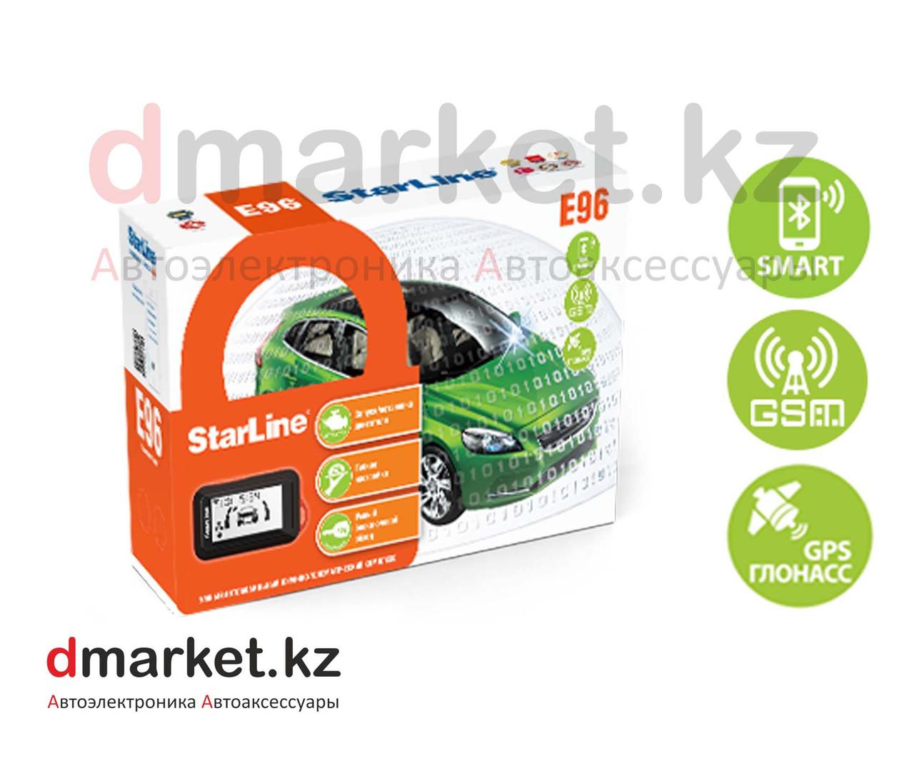 StarLine E96 BT GSM GPS, 2CAN-2LIN, Bluetooth, GSM+GPS, брелок-метка, автозавод, авторизация через телефон
