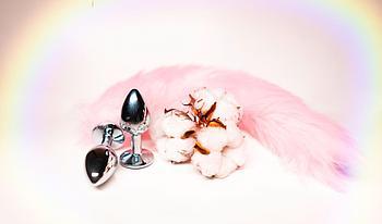 Анальная пробка с хвостиком «Pink Fox»