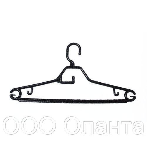 Вешалка пластиковая для трикотажа и рубашек с перекладиной под галстук (L=390 мм) арт.ВК-4