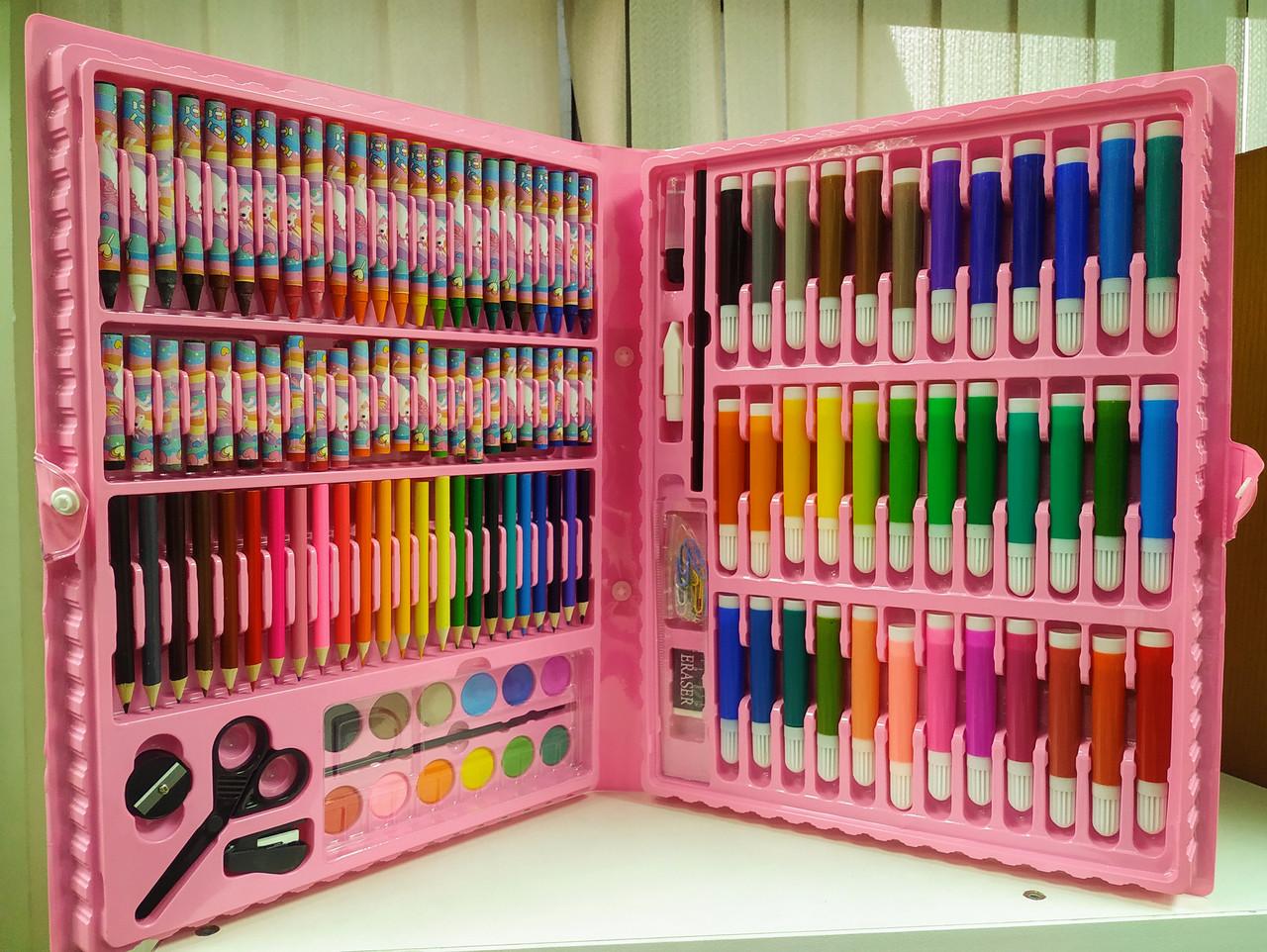 Детский набор для творчества 150 предметов (художественный набор для рисования в чемоданчике) - фото 4