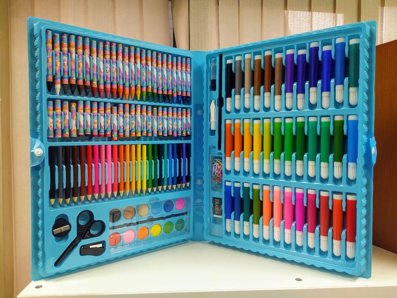 Детский набор для творчества 150 предметов (художественный набор для рисования в чемоданчике) - фото 5