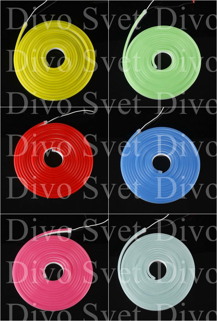 Флекс неон 12*4мм, 12V (для изготовления букв) Flex neon 12 вольт в цветной оболочке! Гибкий холодный неон 12в