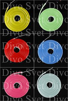 Флекс неон 12*6мм, 12V (для изготовления букв) Flex neon 12 вольт в цветной оболочке! Гибкий холодный неон 12в