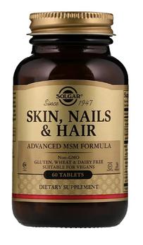 Solgar, Кожа, ногти и волосы, улучшенная рецептура с МСМ, 60 таблеток
