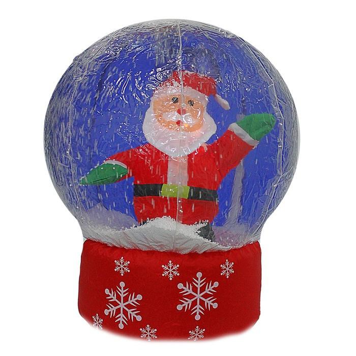 "Надувная фигура ""Дед мороз в шаре"" 80 сантиметров"
