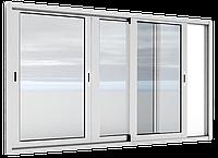 Окна алюминиевые раздвижные