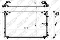 Радиатор кондиционера LEXUS LS430 00-06