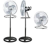 Вентилятор электрический Азия FS-45 (3 в 1) напольный, настольный и настенный