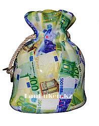 """Копилка """"Мешочек с деньгами евро"""""""