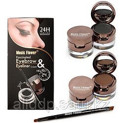 Тени для бровей + подводка для глаз 2 в 1, Music Flower eyebrow eyeliner cream, 24H