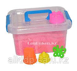 Кинетический песок для детей маленький (1 класс), живой песок (розовый)
