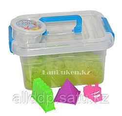 Кинетический песок для детей маленький (1 класс), живой песок (зеленый)