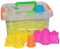 Кинетический песок для детей средний (1 класс), живой песок (зеленый)