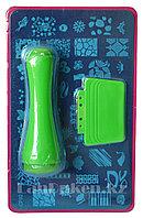 Набор для стемпинга ногтей CF-02, пластины для дизайна ногтей, штамп двусторонний, скребок металлический