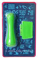 Набор для стемпинга ногтей CF-12, пластины для дизайна ногтей, штамп двусторонний, скребок металлический