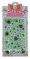 """Декоративные Стразы наклейки """"Say it in crystals"""" зеленые для декора (телефона, компьютера, автомобиля)"""