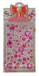 """Декоративные Стразы наклейки """"Say it in crystals"""" розовые для декора (телефона, компьютера, автомобиля)"""