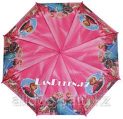 """Зонт-трость детский розовый """"Холодное сердце"""" Анна (класс 2)"""