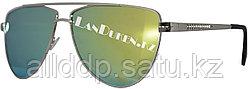 Солнцезащитные очки зеркальные синие желто-золотые Ray Ban