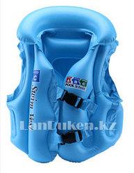 Надувной спасательный жилет для плавания SWIT VEST голубой (Step С)