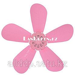 """Потолочный вентилятор """"Лепесток"""" розовый (Fei Peng)"""