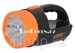Ручной аккумуляторный фонарь светодиодный TX-316 12 LED 2 режима (черный)
