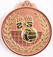 """Медаль рельефная """"ВОЛЕЙБОЛ"""" (бронза)"""