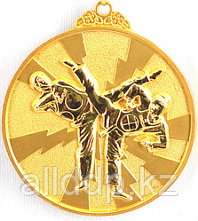 """Медаль рельефная """"ТХЭКВОНДО"""" (золото)"""