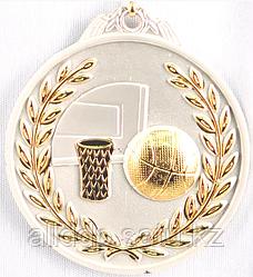 """Медаль рельефная """"БАСКЕТБОЛ"""" (серебро)"""