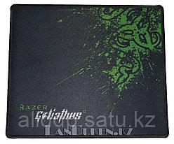 """Коврик для мышки """"Super Game da pad"""" (большой, с оверлогом и зеленым принтом)"""