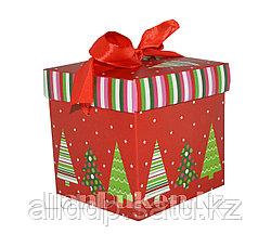 Подарочная новогодняя упаковка 10*10 см (маленькая) 5006-2