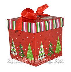 Подарочная новогодняя упаковка 15*15 см (средняя) YXL 5005-2A