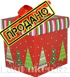 Подарочная новогодняя упаковка 22*21 см (большая) YXL 5004-2