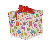 Подарочная новогодняя упаковка 10*10 см (маленькая) YXL 5008S-1