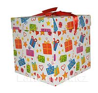 Подарочная новогодняя упаковка 22*21 см (большая) YXL 5008L-1