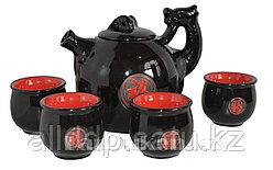 Чайный сервиз черный в японском стиле (5 предметов)