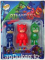 Игровой набор Герои в масках Pj Masks (3 фигурки игрушки Аллет, Гекко и Кэтбой )