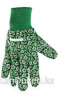 Перчатки садовые х/б ткань с ПВХ точкой манжет S PALISAD 67761 (002)