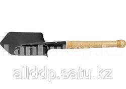 Саперная лопата с деревянным черенком 61425 (002)