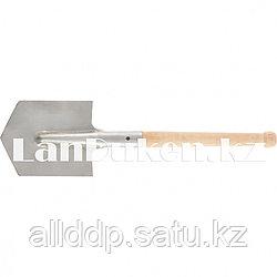 Саперная лопата из нержавеющей стали с деревянным черенком СИБРТЕХ 61439 (002)