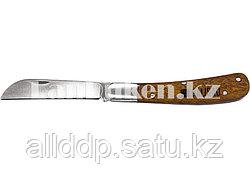 Складной садовый нож с прямым лезвием и деревянной ручкой 17,3 см PALISAD 79003 (002)