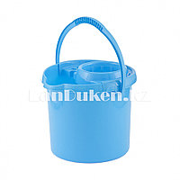 Ведро с отжимом пластмассовое, 9 л. голубое ELFE 92961 (002)